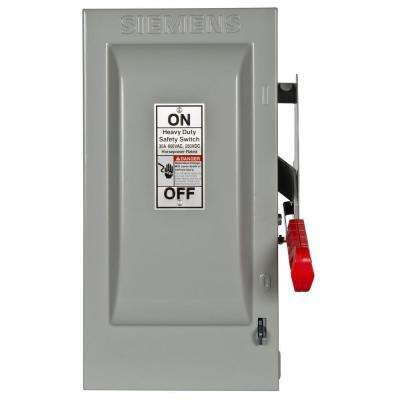 Heavy Duty 30 Amp 600-Volt 3-Pole Indoor Fusible Safety Switch with Neutral