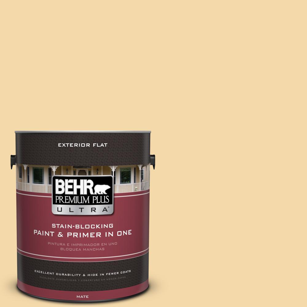 BEHR Premium Plus Ultra 1 gal. #UL180-19 Caribbean Sunrise Flat Exterior Paint