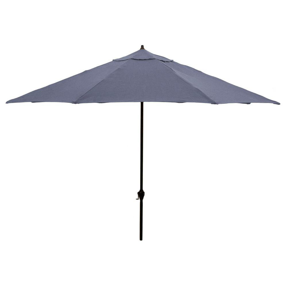 11 ft. Aluminum Patio Umbrella in Sky Blue