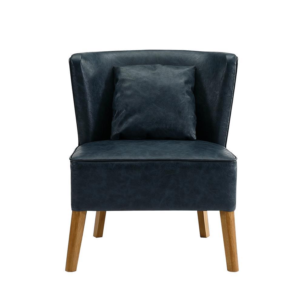 Etonnant Walker Edison Furniture Company Navy Blue Accent Chair With Curved Back
