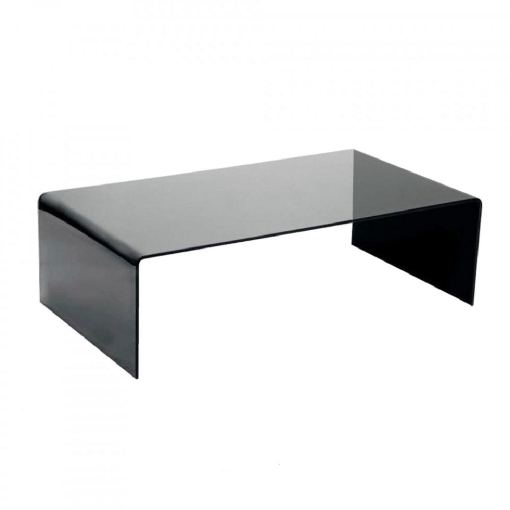 Fab Gl And Mirror Grey Bent Coffee Table 3 8 In Thick Gry