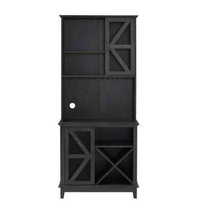 Home Source 72 in. Height and 31 in. Wide Charcoal Bar