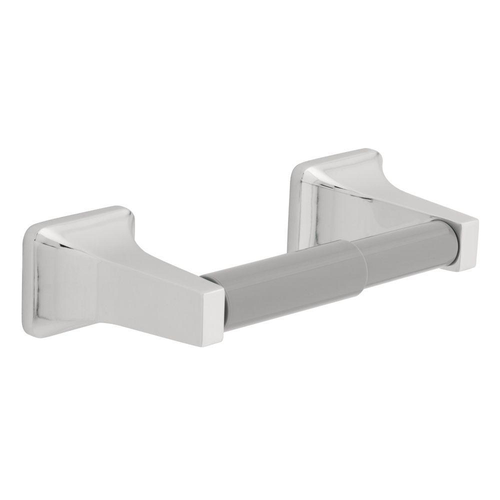 Futura Toilet Paper Holder with Gray Plastic Roller in Chrome