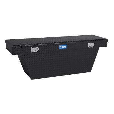 63 in. Aluminum Black Single Lid Crossover Angled Deep Tool Box