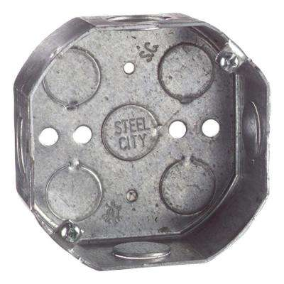 4 in. Octagon Box with 1/2 in. Knockouts (Case of 30)