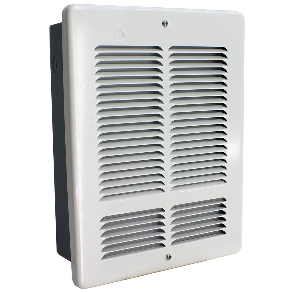W 240-Volt 1000-500-Watt Wall Heater in White
