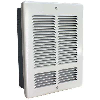 W 240-Volt 1000-500-Watt Wall Heater in White