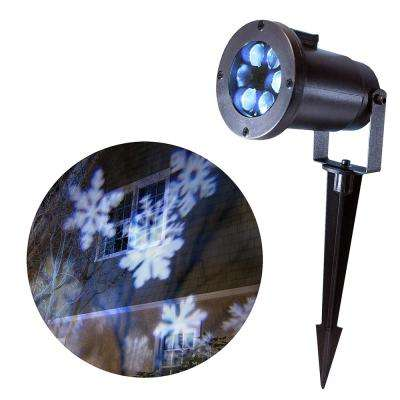 1-Light LED White Snowflakes Projector Light