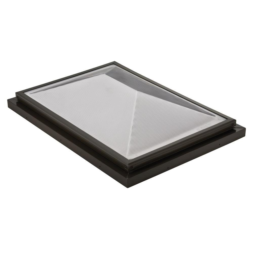 Sunoptics Prismatic 2 ft. x 3 ft. Fixed Curb-Mounted Double Hip Skylight