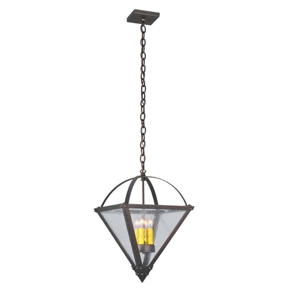 Illumine 4 Light Pyramid Inverted Pendant Mahogany Bronze Finish