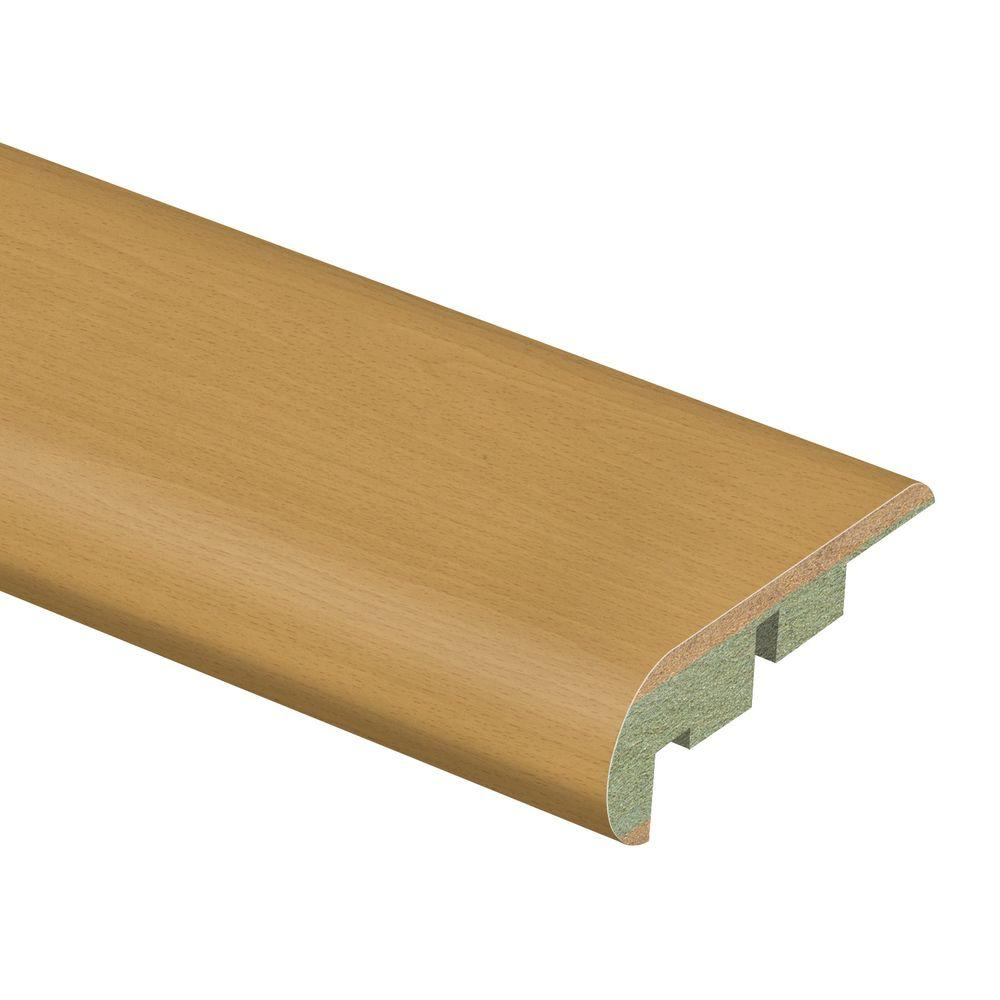 Zamma Beech Blocked 3/4 in. Thick x 2-1/8 in. Wide x 94 in. Length Laminate Stair Nose Molding