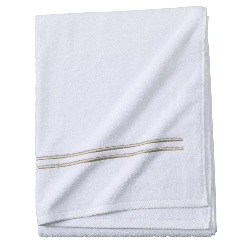 Sardis 1-Piece Bath Towel in Bisque