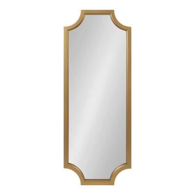 Large Rectangle Gold Contemporary Mirror (47.75 in. H x 17.75 in. W)