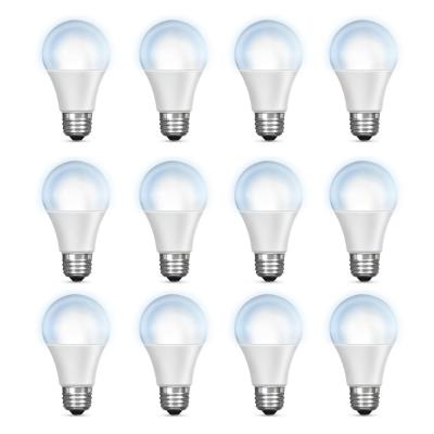 60-Watt Equivalent Daylight (5000K) A19 Dimmable Wi-Fi LED Smart Light Bulb (12-Pack)