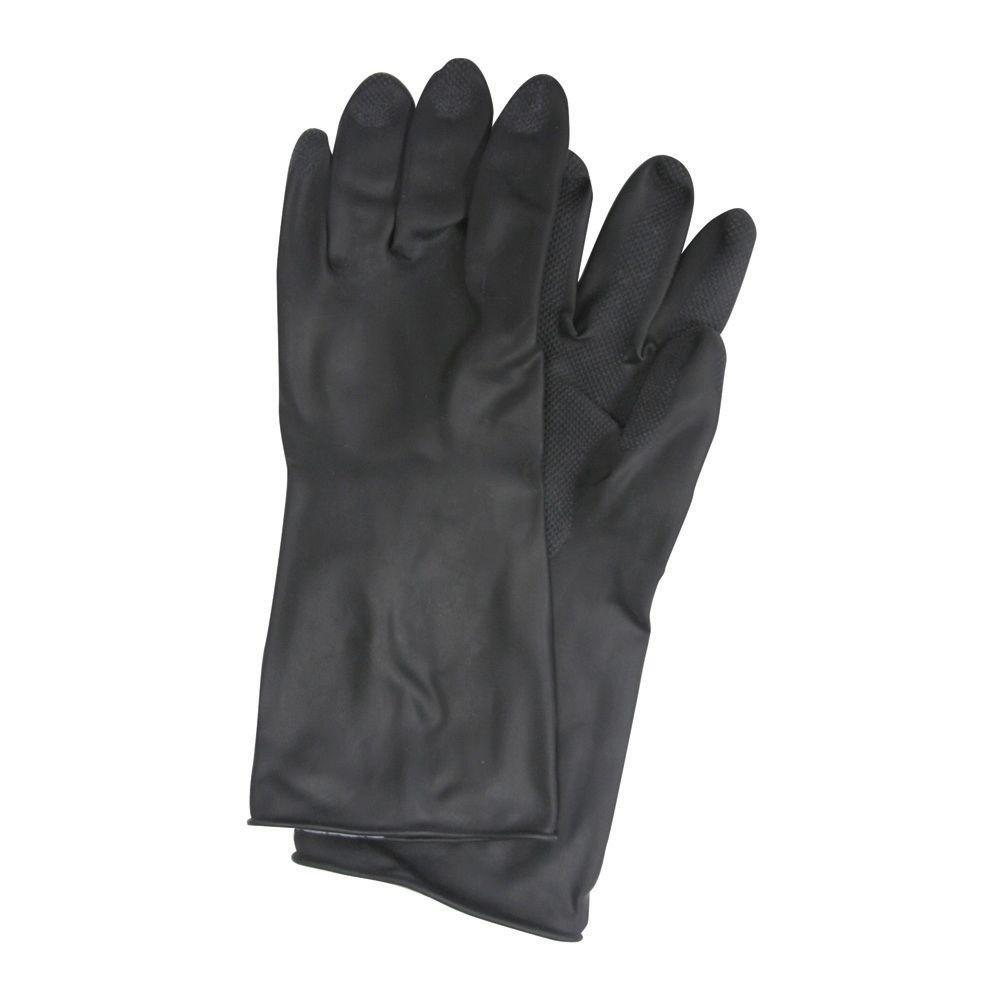 Trimaco Black Rubber Gloves - Large