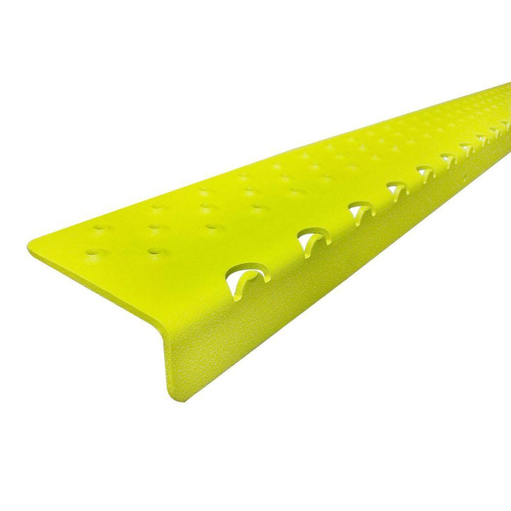 2.75 in. x 30 in. x 1.125 in. Non Skid Yellow Aluminum Nosing