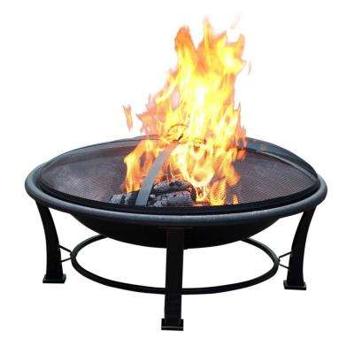 35 in. Golden Brush Steel Fire Pit