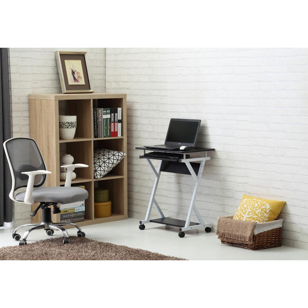 Wood Top Laptop Desk in Black