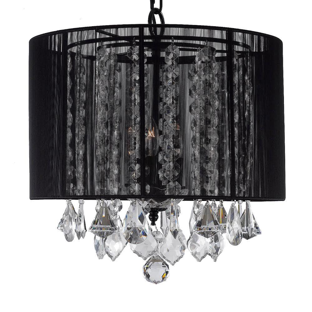 Empress Crystal 3 Light Black Chandelier With Shade T40 383 The