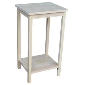 International Concepts Portman Unfinished End Table Ot 42 The Home Depot