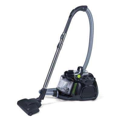 Black Silent Performer Cyclonic Bagless Canister Vacuum Cleaner