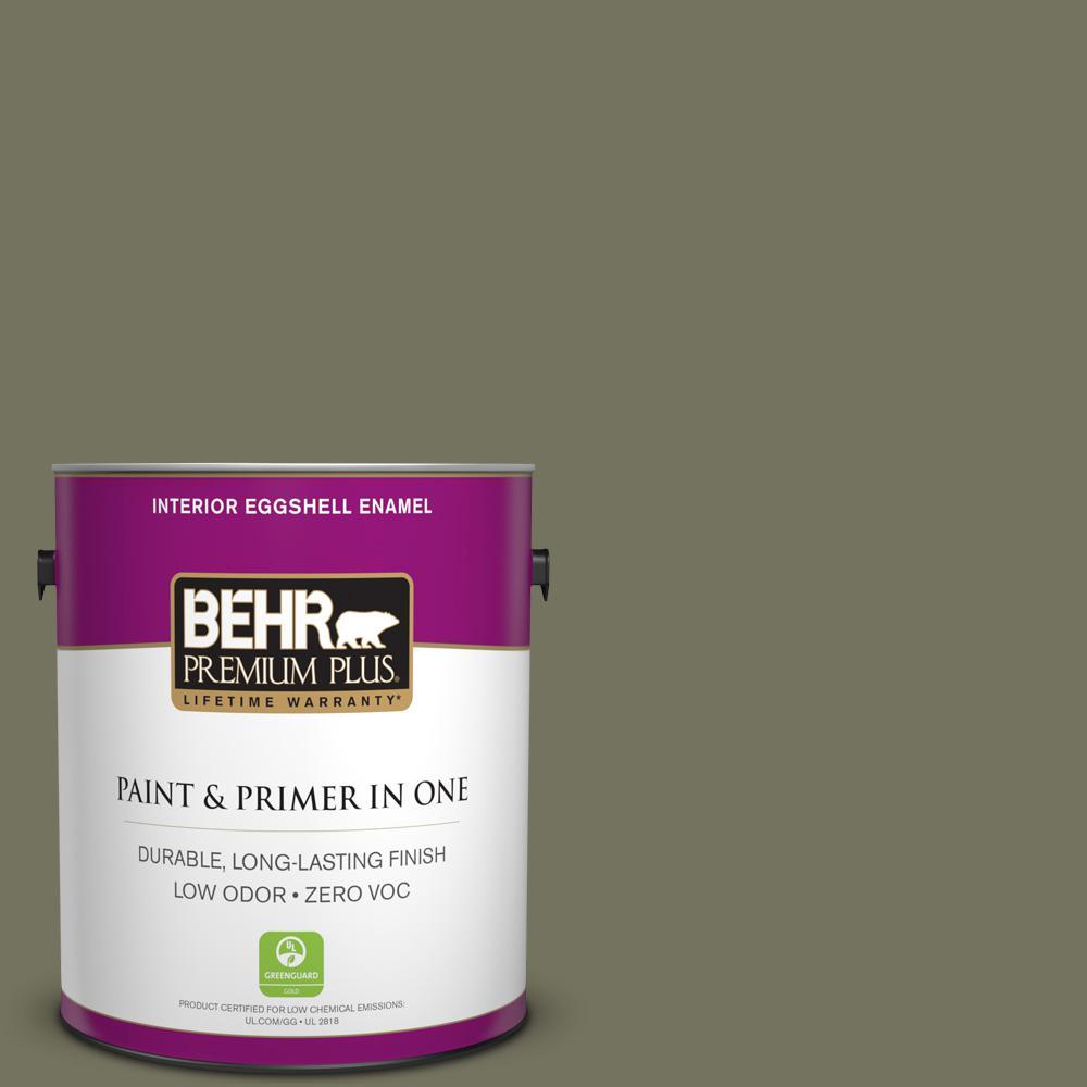 1 gal. #N350-6 Peppergrass Eggshell Enamel Zero VOC Interior Paint and