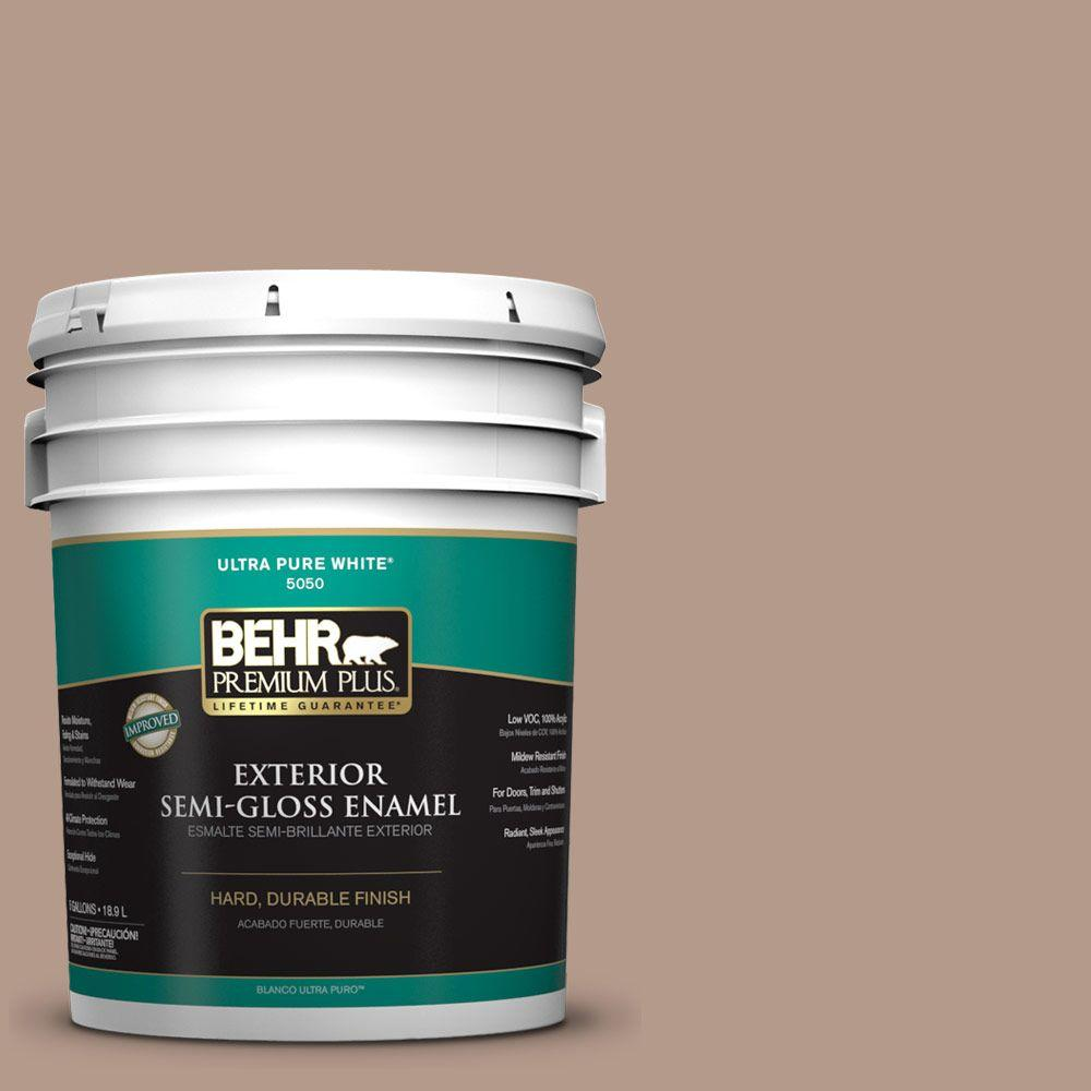 5-gal. #PMD-77 Rich Taupe Semi-Gloss Enamel Exterior Paint