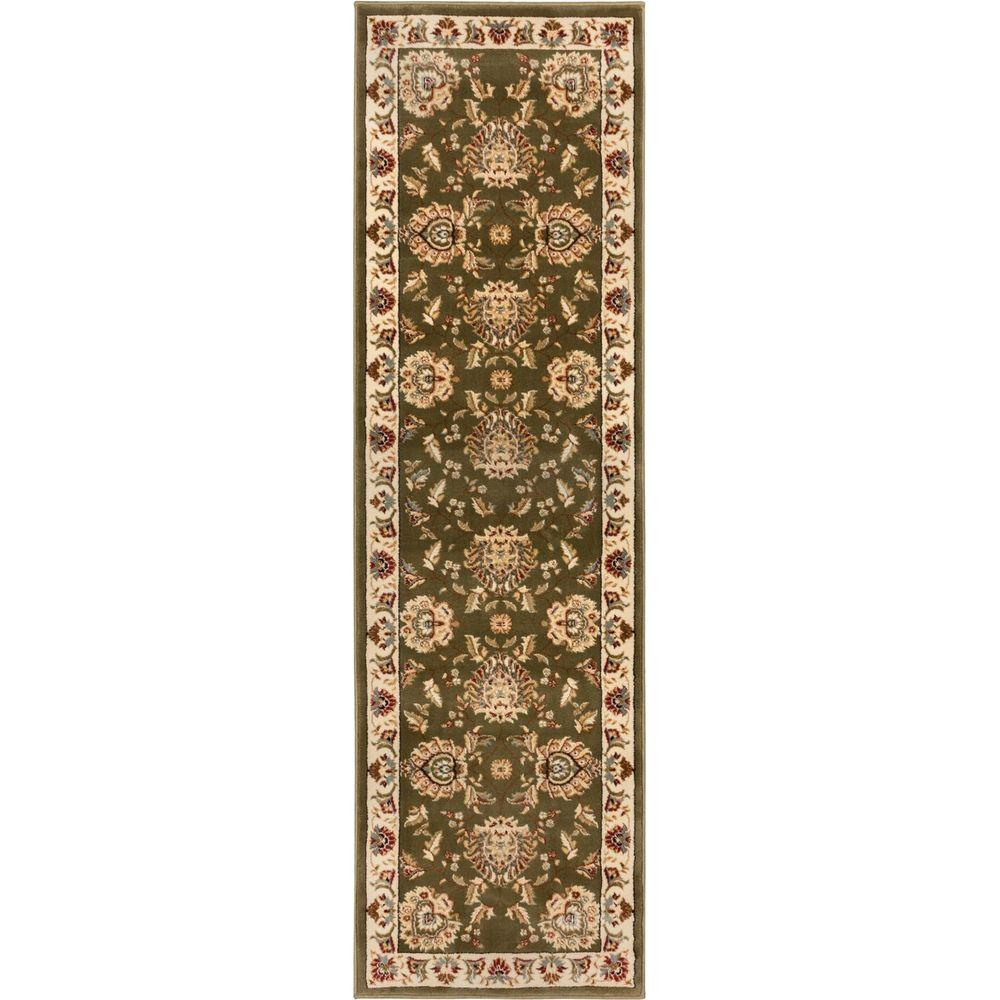 Timeless Abbasi Green 2 ft. 7 in. x 12 ft. Traditional