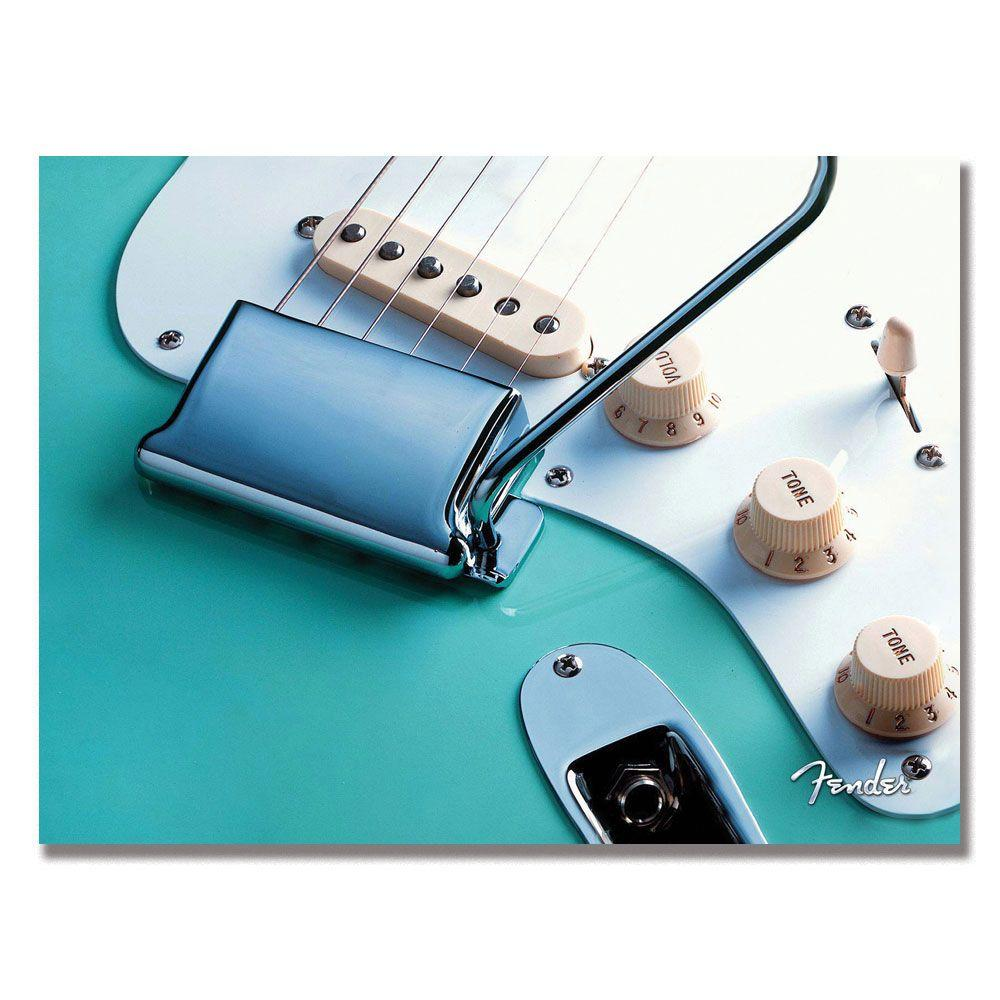 Trademark Fine Art 24 in. x 32 in. Fender Stratocaster Canvas Art