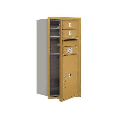 3700 Series 34 in. 9 Door High Unit Gold Private Front Loading 4C Horizontal Mailbox with 2 MB1 Doors/1 PL5