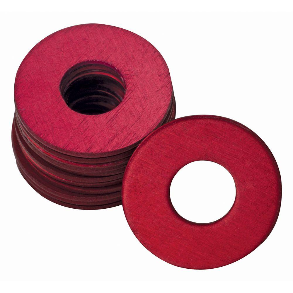 Plews UltraView 1/4 in. x 28 in. Grease Fitting Washers Fittings in Red