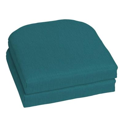 18 x 18 Sunbrella Spectrum Peacock Outdoor Chair Cushion (2-Pack)