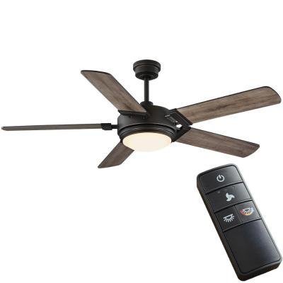 Blakeridge 60 in. LED Bronze Indoor/Outdoor Ceiling Fan with Light Kit and Remote Control with Color Changing Technology