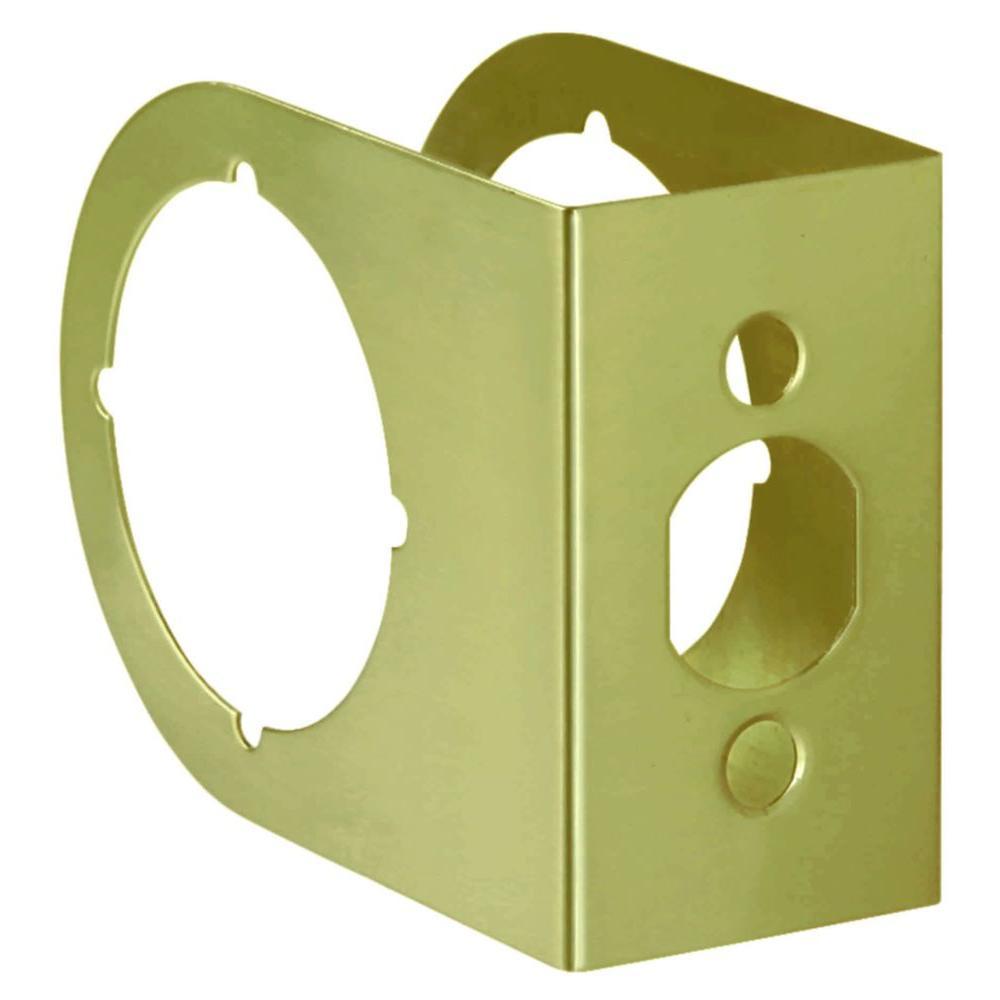 2-3/8 in. x 1-3/4 in. Solid Brass Door Reinforcer