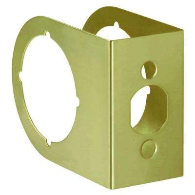 2-3/8 in. x 1-3/4 in. Solid Brass Door Reinforcer