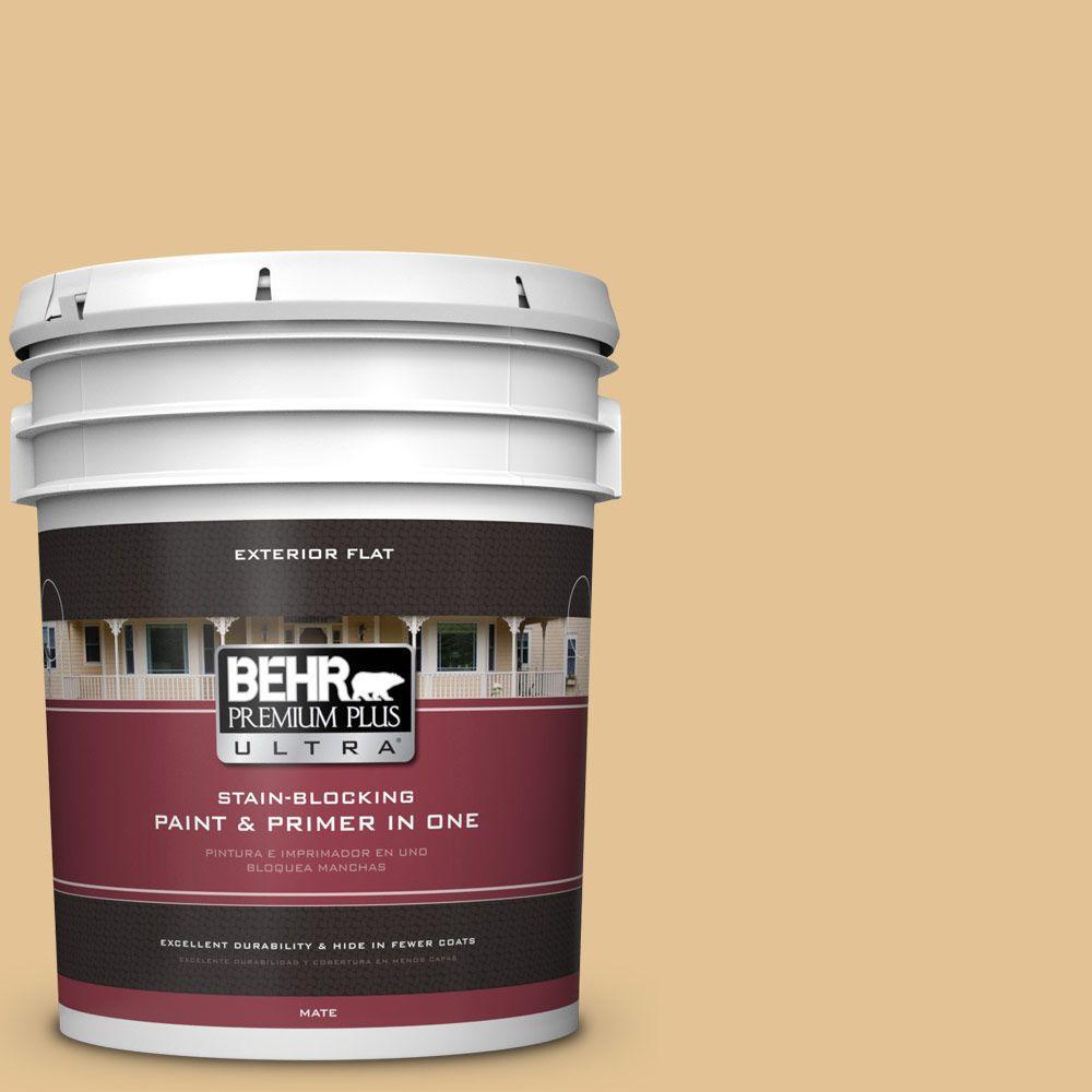 5-gal. #310E-3 Ripe Wheat Flat Exterior Paint