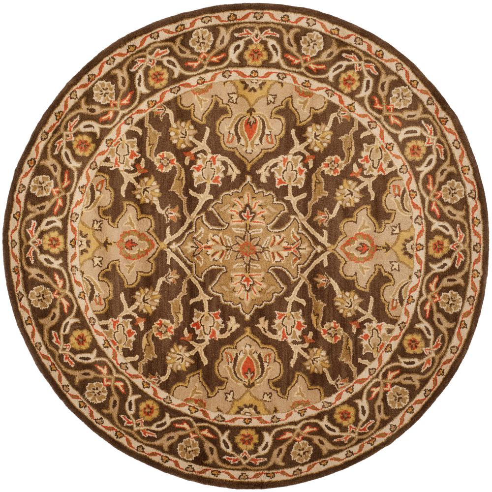 Safavieh Classic Brown 6 Ft X 6 Ft Round Area Rug Cl931a