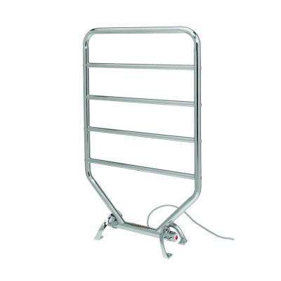 5-Bar Electric Towel Warmer in Satin Nickel