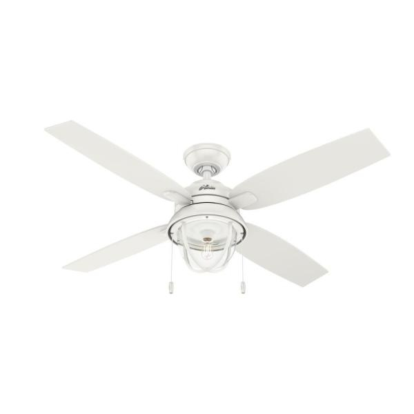 Barnes Bay 52 in. Indoor/Outdoor Fresh White LED Ceiling Fan with Light Kit
