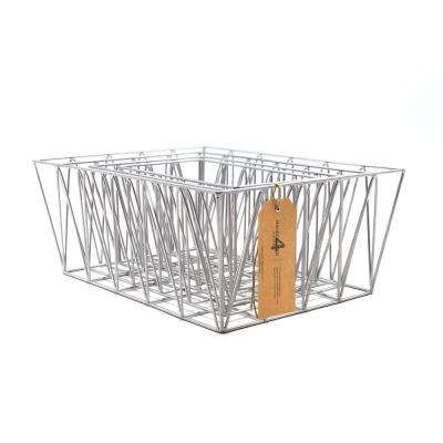 11.75 in. D x 15.75 in. W x 6.25 in. H Metal Wire Baskets (Set of 4)