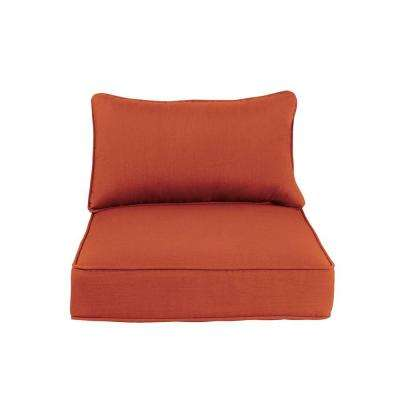 Greystone Replacement Outdoor Lounge Chair and Motion Lounge Chair Cushion in Cinnabar