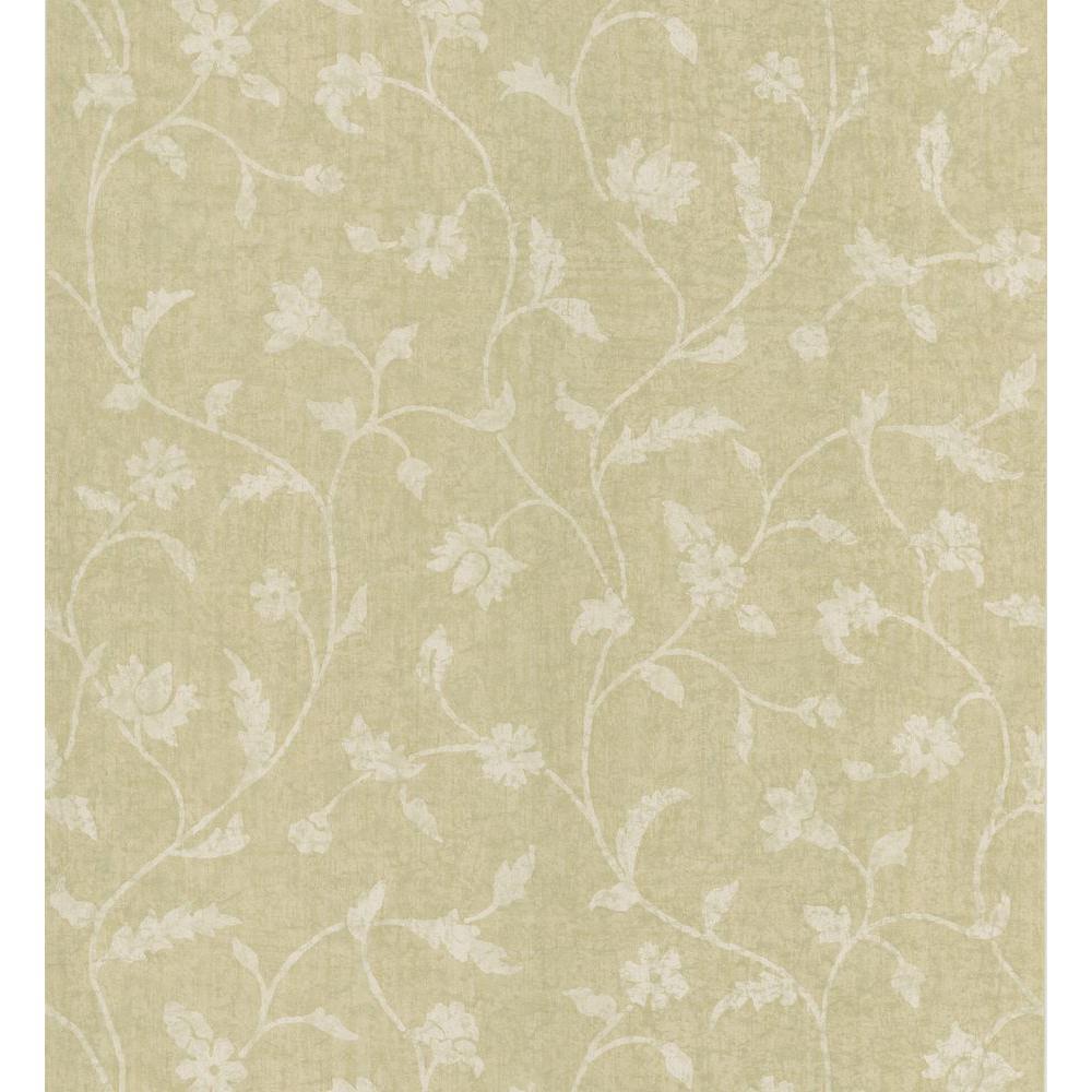 National Geographic Beige Batik Floral Trail Wallpaper Sample 405-49417SAM