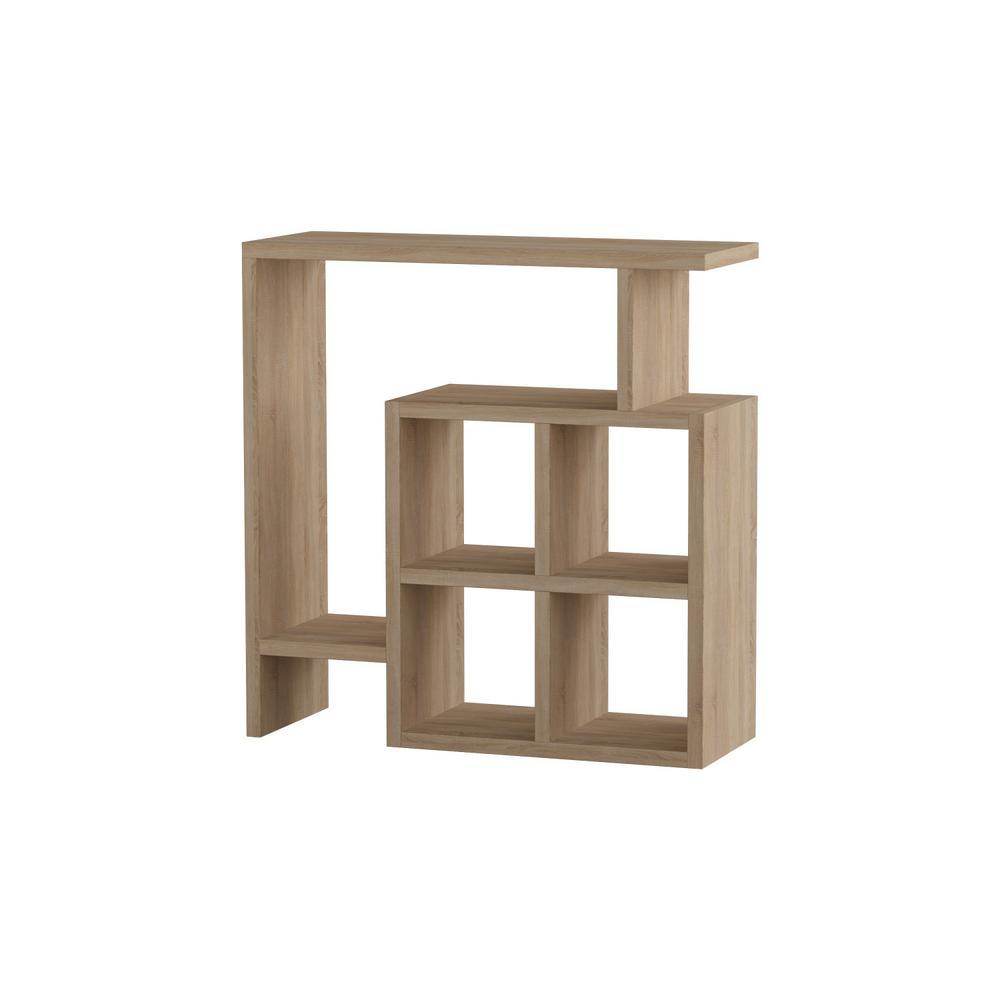 Ada Home Decor Smith Oak Modern Side Table
