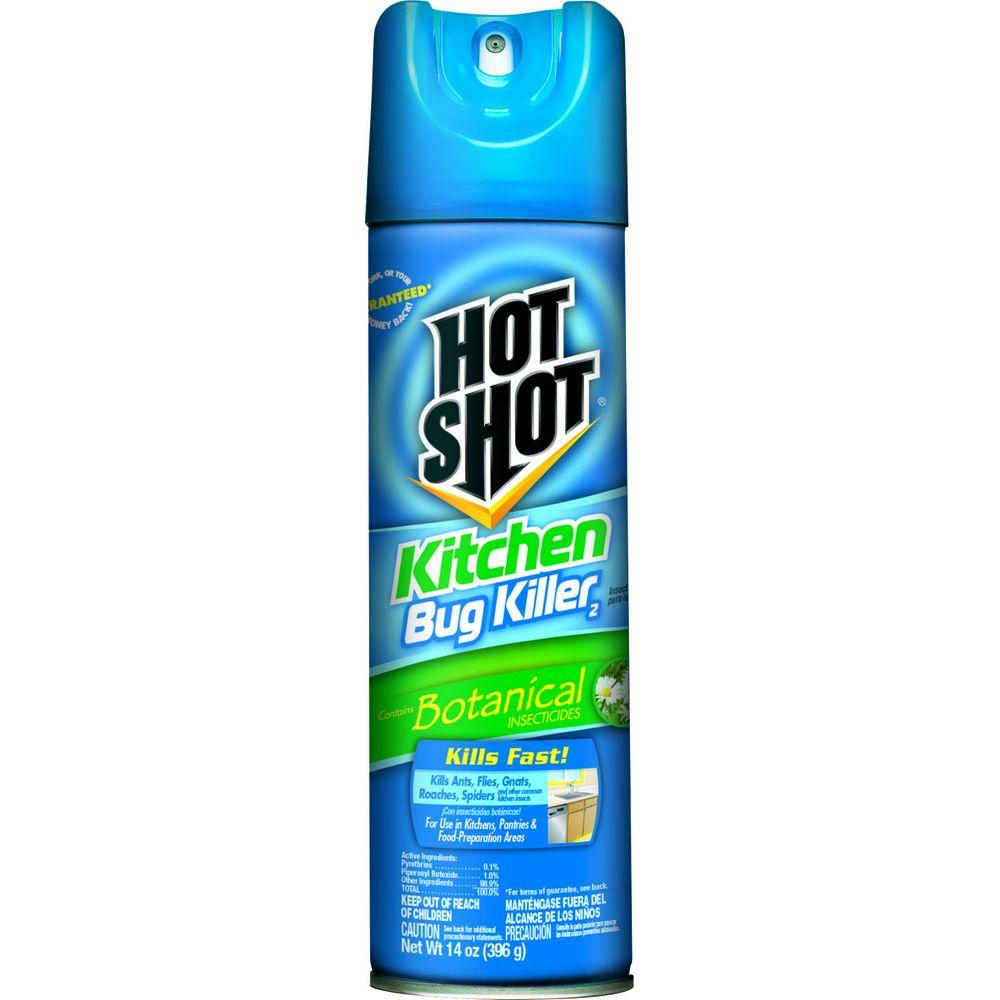 hot shot 14 oz. aerosol kitchen bug killer-hg-4470-8 - the home depot