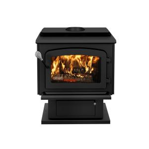 Drolet Escape 1800 Wood Stove 2100 sq. ft. on Pedestal EPA Certified by Wood Stoves