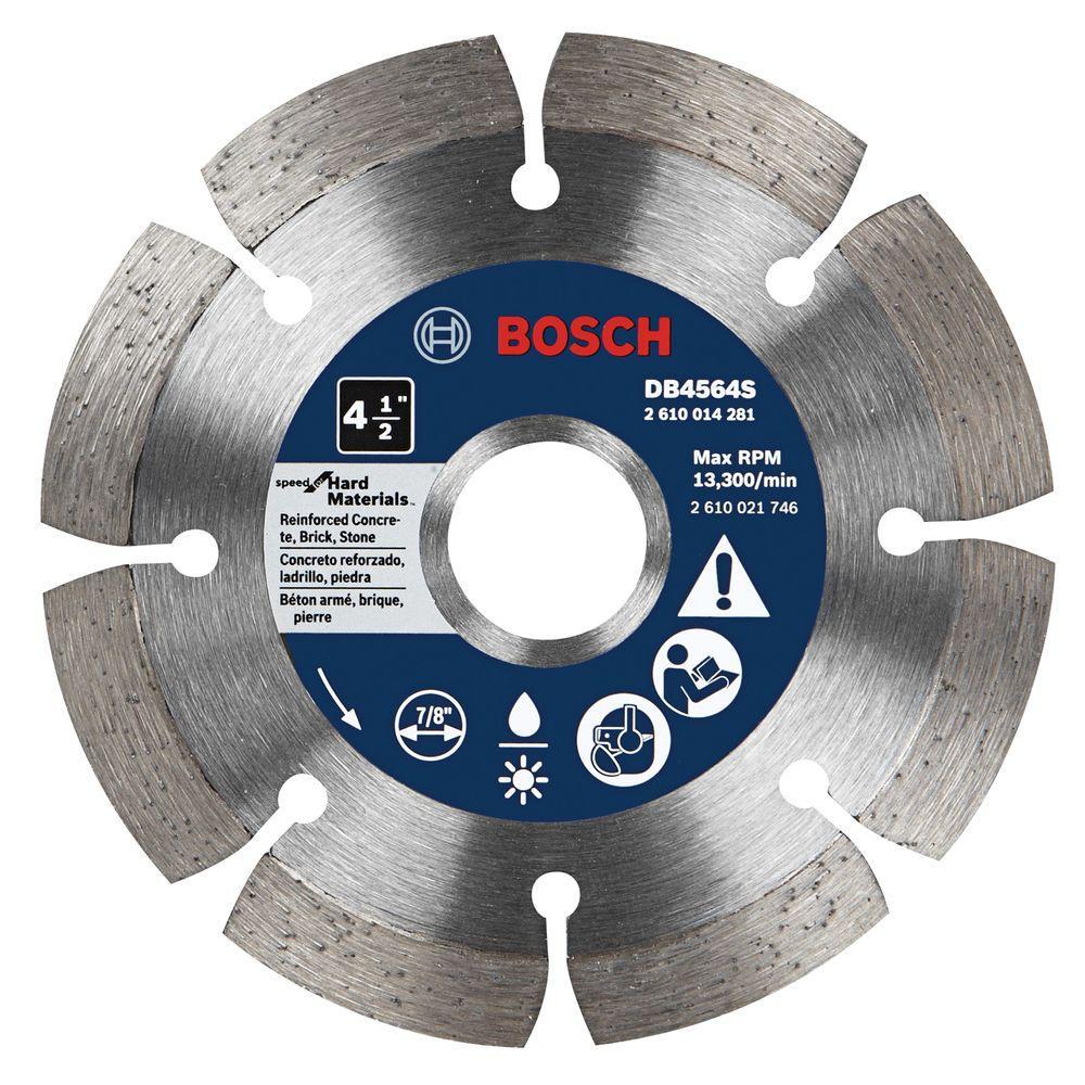Bosch 4-1/2 in. Premium Plus Hard Diameter Saw Blade for Cutting Concrete, Granite, or Brick