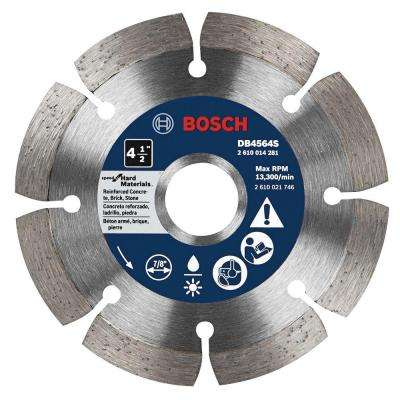 4-1/2 in. Premium Plus Hard Diameter Saw Blade for Cutting Concrete, Granite, or Brick