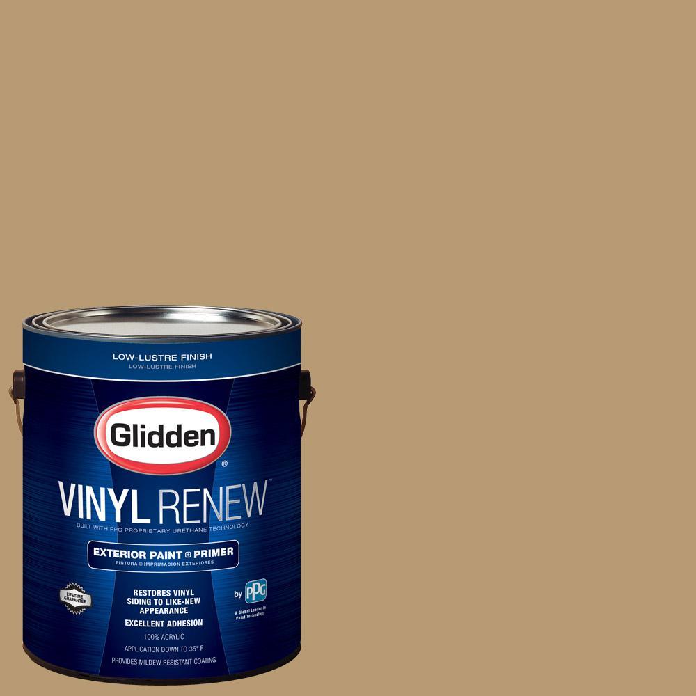 1 gal. #HDGY25D Old Salem Gold Low-Lustre Exterior Paint with Primer