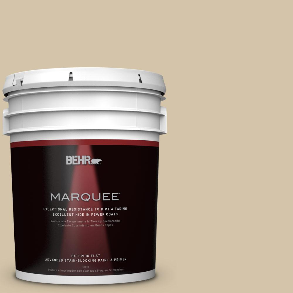 BEHR MARQUEE 5-gal. #ICC-60 Brown Bread Flat Exterior Paint