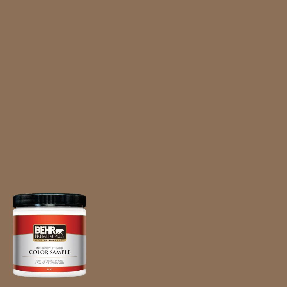 280f 6 Sweet Georgia Brown Flat Interior Exterior Paint And Primer In One Sample